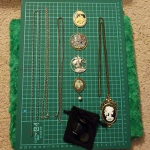 3 chains & 5 necklace& fisheye lens